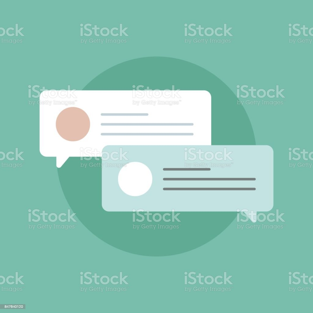 Online messaging icon vector vector art illustration