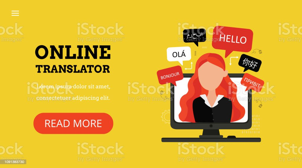Online Multi Language Translator Stock Illustration - Download Image