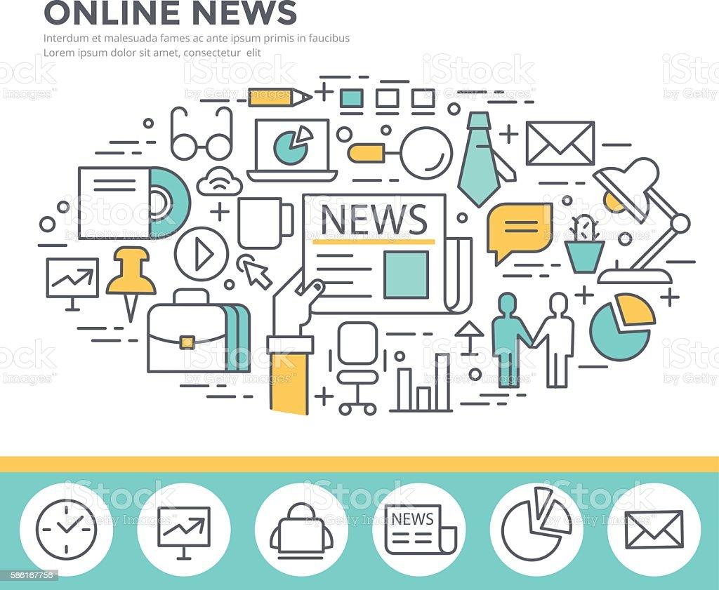 Online news concept illustration. vector art illustration