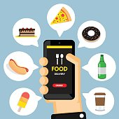 Online ordering and fast food delivery .