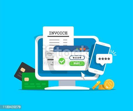 istock Online payment concept. 1133420279