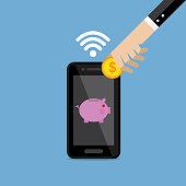 Internet, Bank, Technology, Currency, Saving