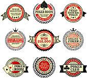 Online poker Texas Hold Em icon set
