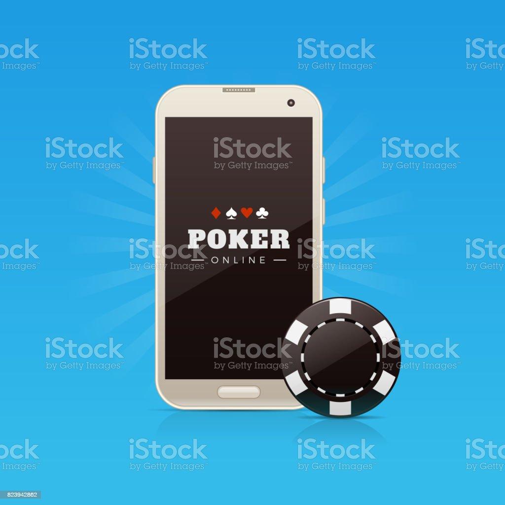 Online Poker vector art illustration