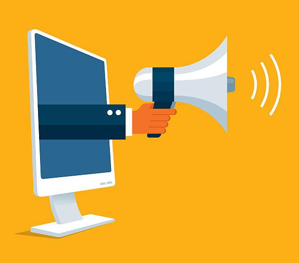 Promotion en ligne - Illustration vectorielle