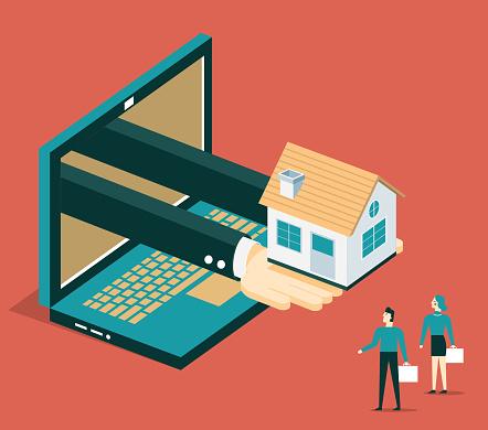Online real estate selling - Laptop
