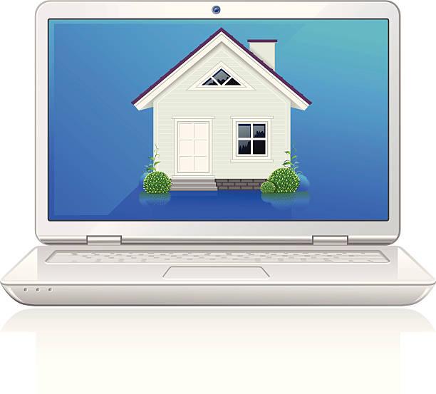 Online Real Estate vector art illustration