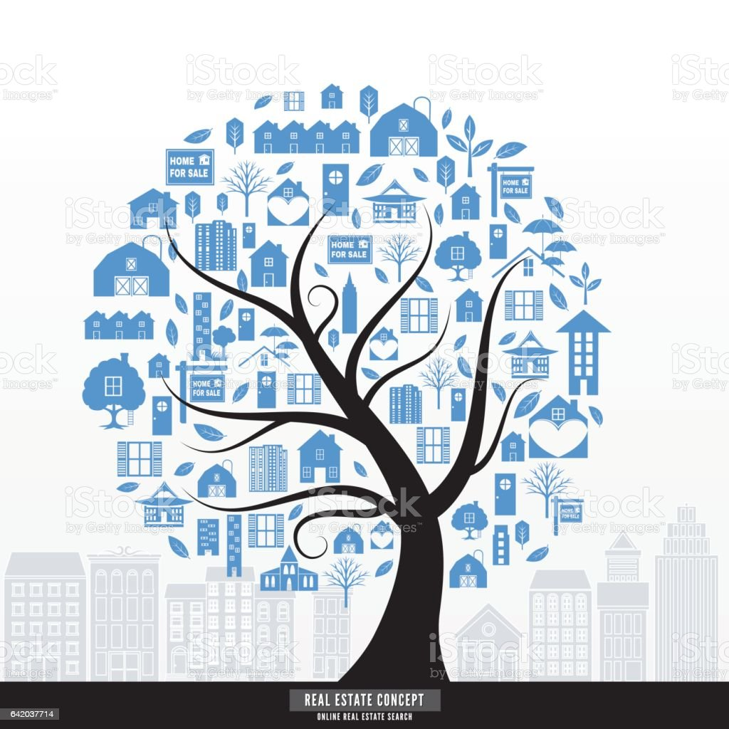Online Research For Real Estate Stock Vector Art & More Images of ...