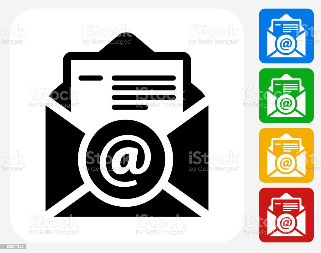 Online Resume Icon Flat Graphic Design Stock Vector Art 493057938