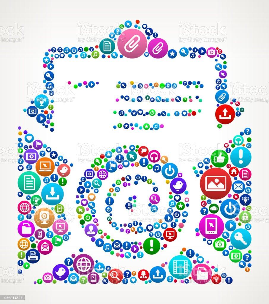 Ilustracion De Curriculum Vitae En Linea Internet Comunicacion