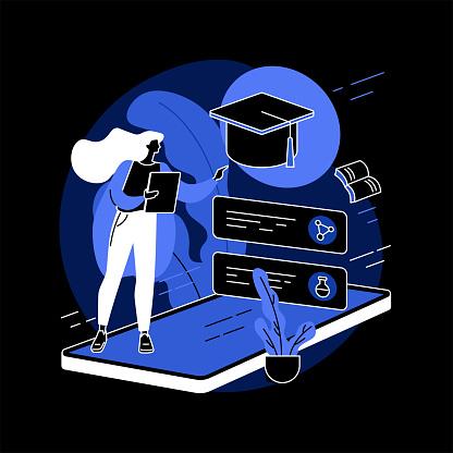 Online school platform abstract concept vector illustration.