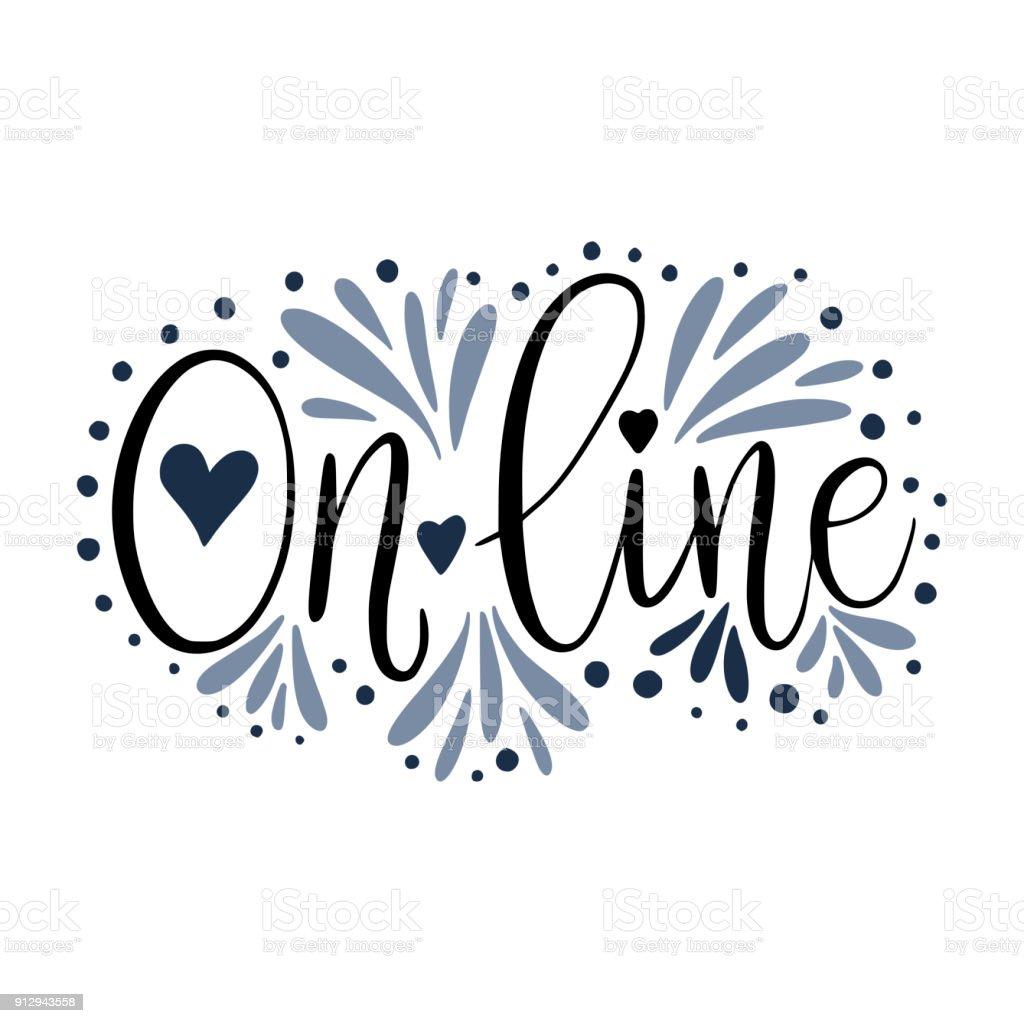 online script handmade lettering quote for social media designs