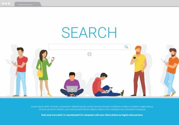 Online-Suche bar Konzept-Vektor-illustration – Vektorgrafik