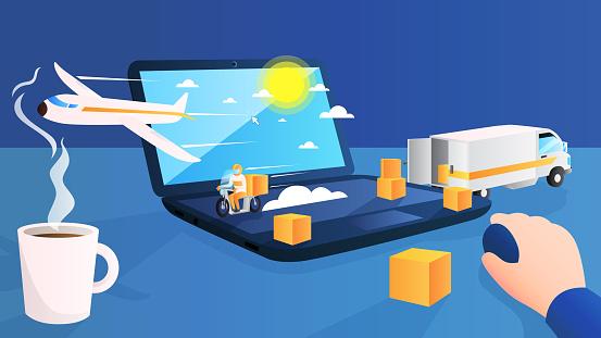 Online shop Logistics Transport