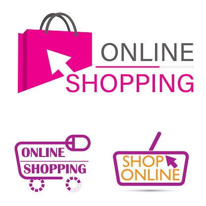 Online shop logo template design