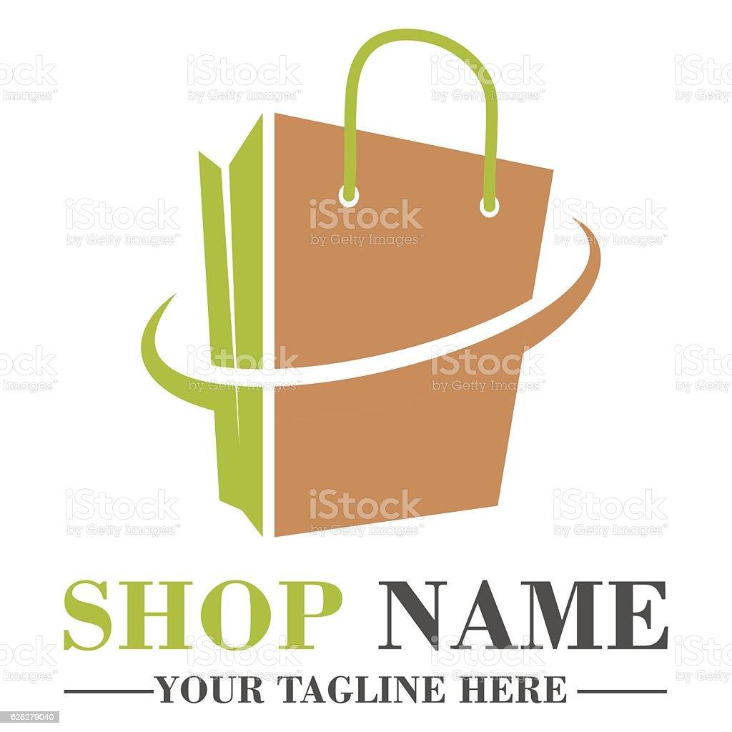 Online Shop Logo Template Design Stock Vector Art More Images Of