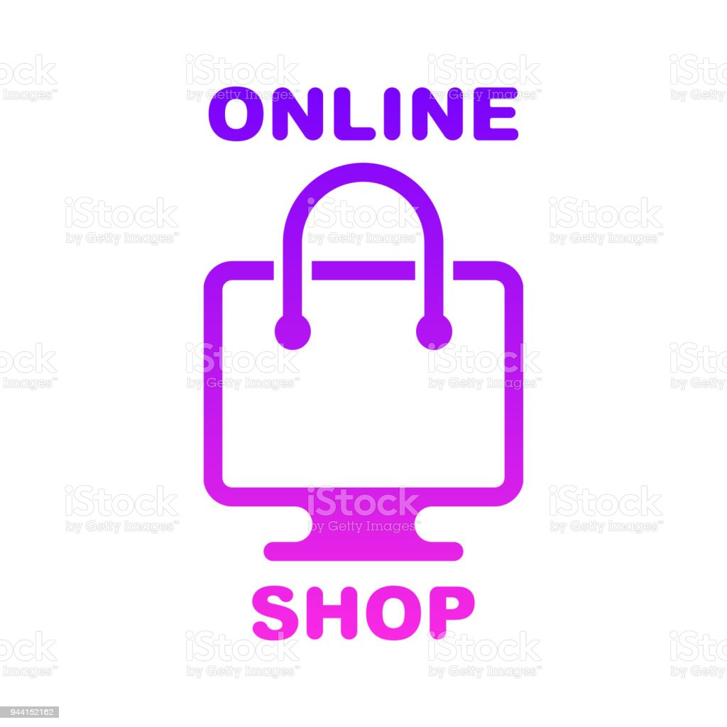 Online Shop Online Store Logo Logotype For Business Isolated