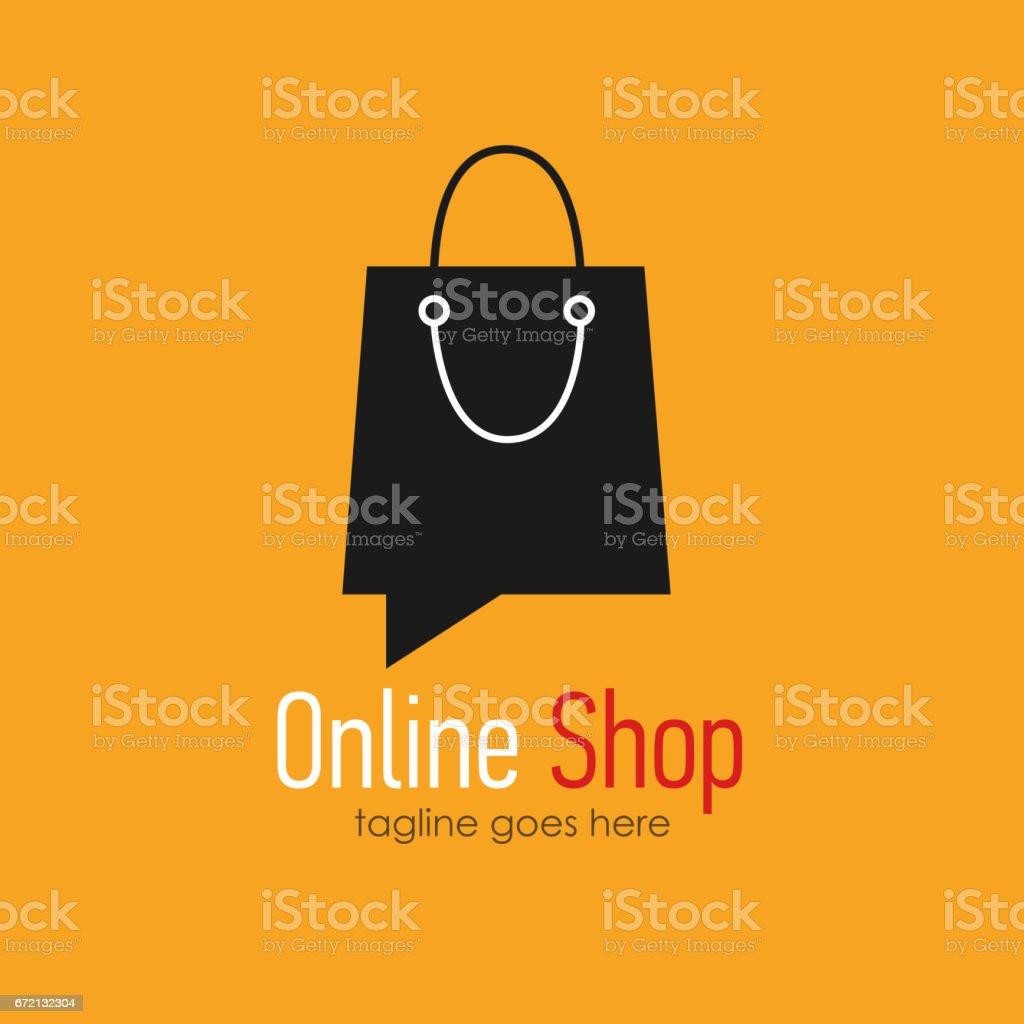 Onlineshopsymboldesignvorlage Stock Vektor Art und mehr Bilder von ...