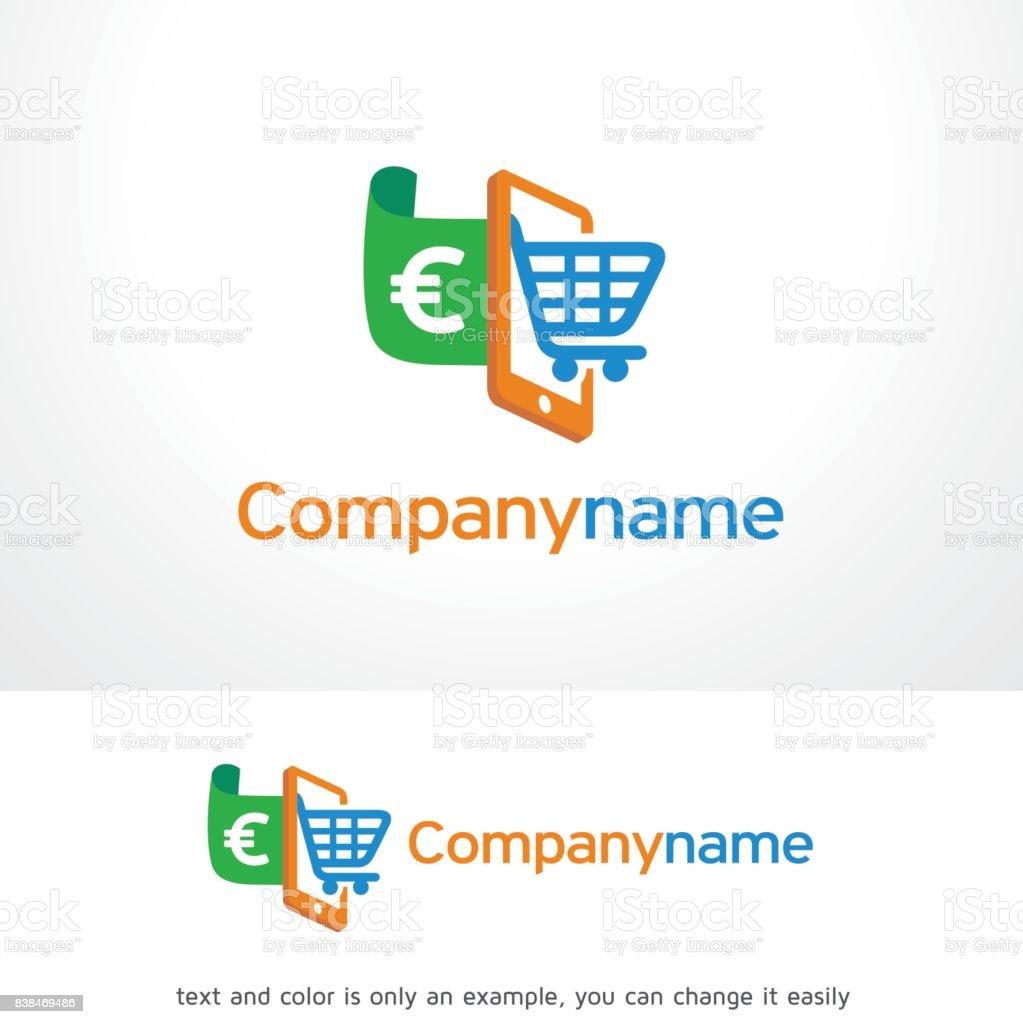 Online Shop Symbol Template Design Vector Emblem Design Concept
