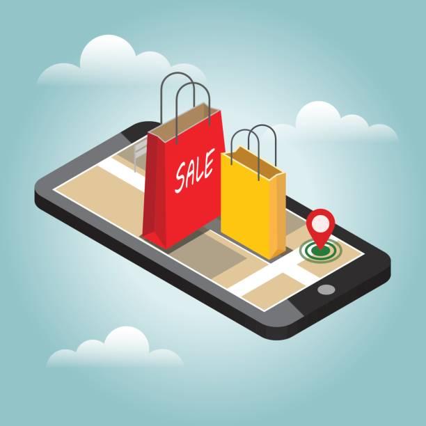 ilustrações de stock, clip art, desenhos animados e ícones de online shopping and e-commerce concept - online shopping