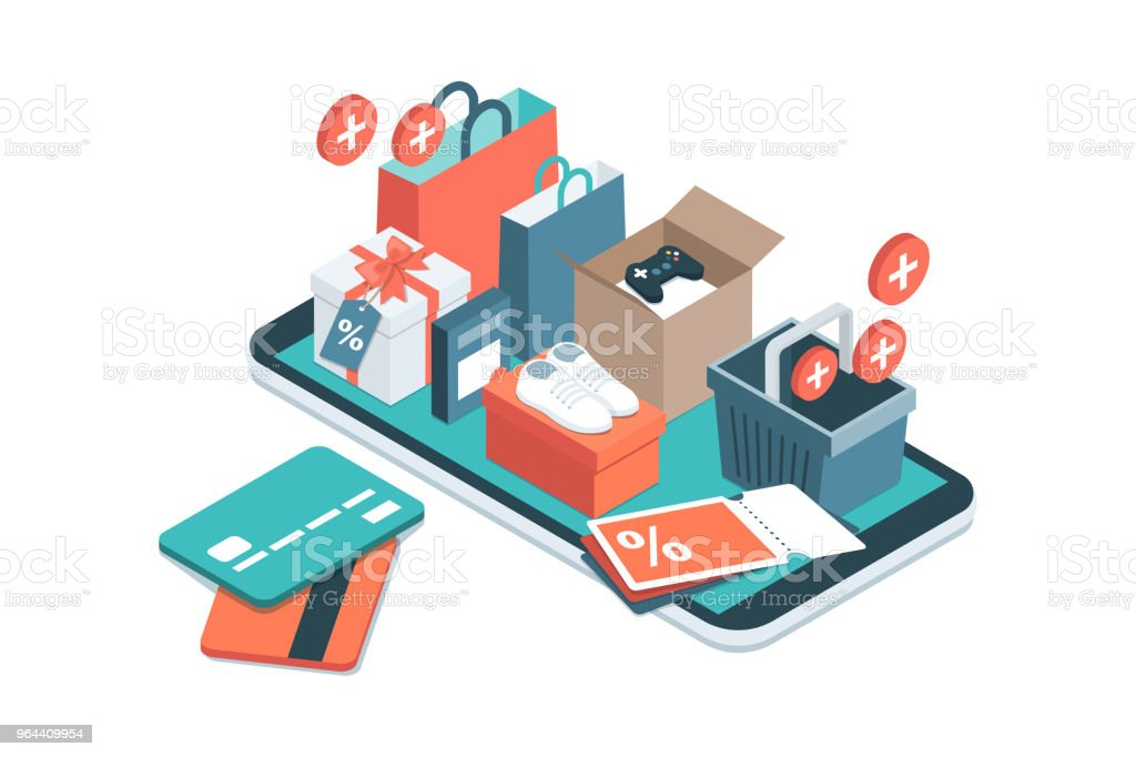 Online shopping app - Royalty-free Augmented Reality stock vector