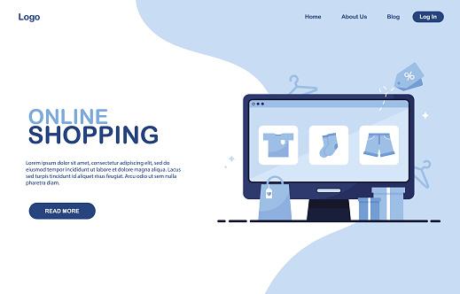 Online shopping banner template