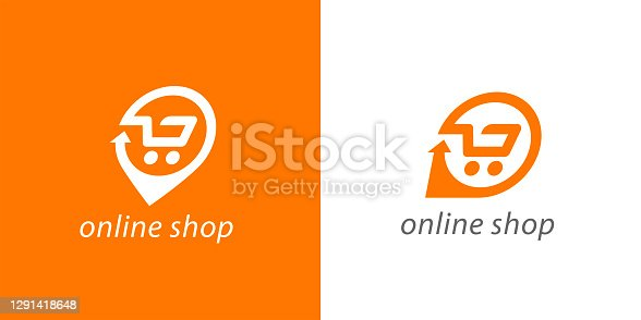 istock Online shopping cart icon 1291418648