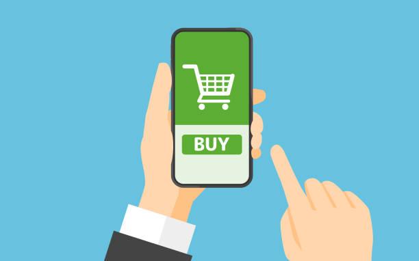 stockillustraties, clipart, cartoons en iconen met online shopping concept - kopen