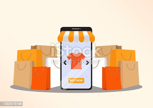 istock Online shopping concept 1202073158
