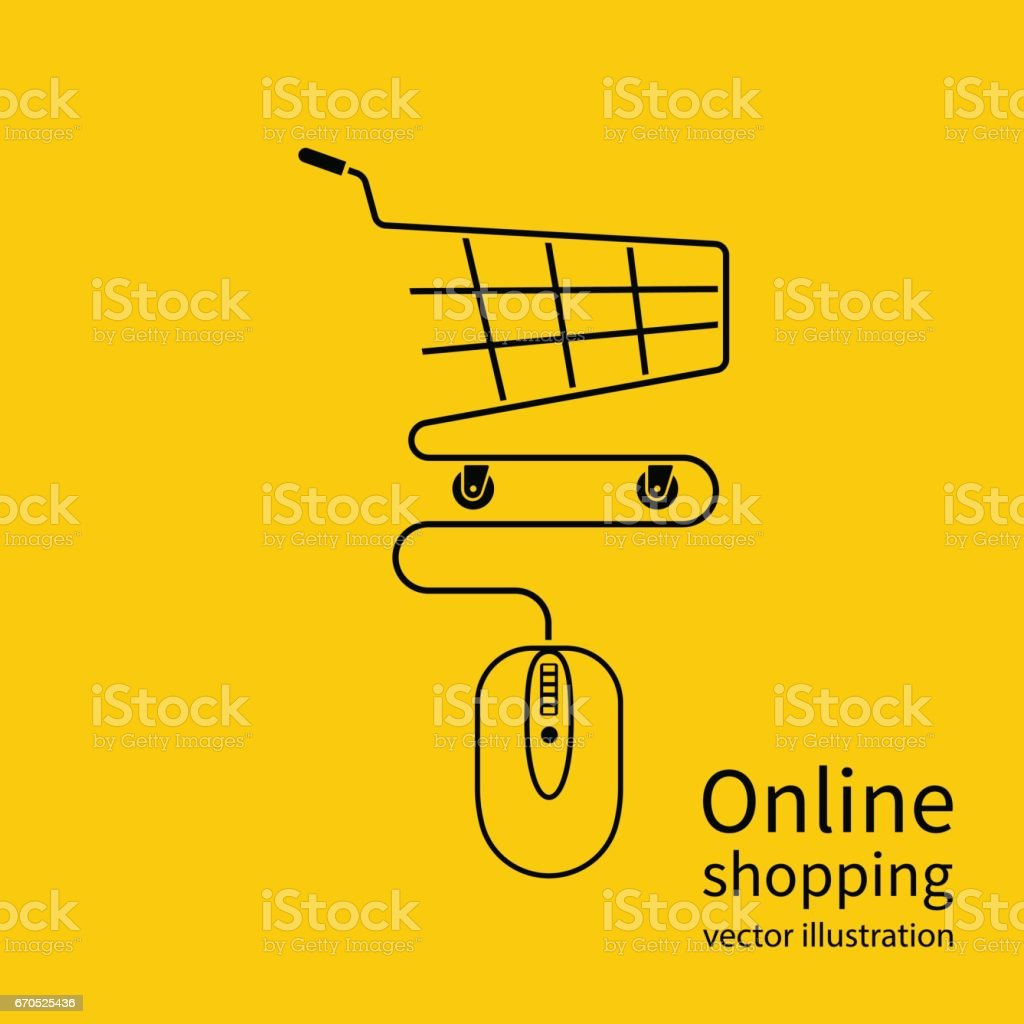 Online shopping concept. vector art illustration
