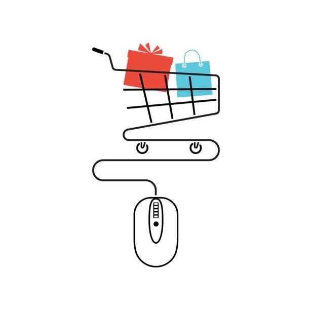 Online-shopping-Konzept. – Vektorgrafik
