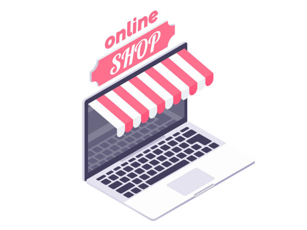 dd9cb0c69 Online shopping concept vector art illustration