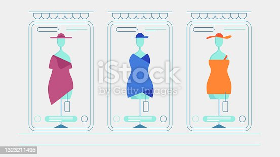 Online Shopping Concept With Mobile Phone