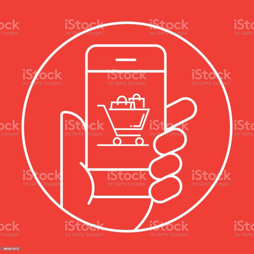 Online Shopping Icon Concept royalty-free online shopping icon concept stock illustration - download image now