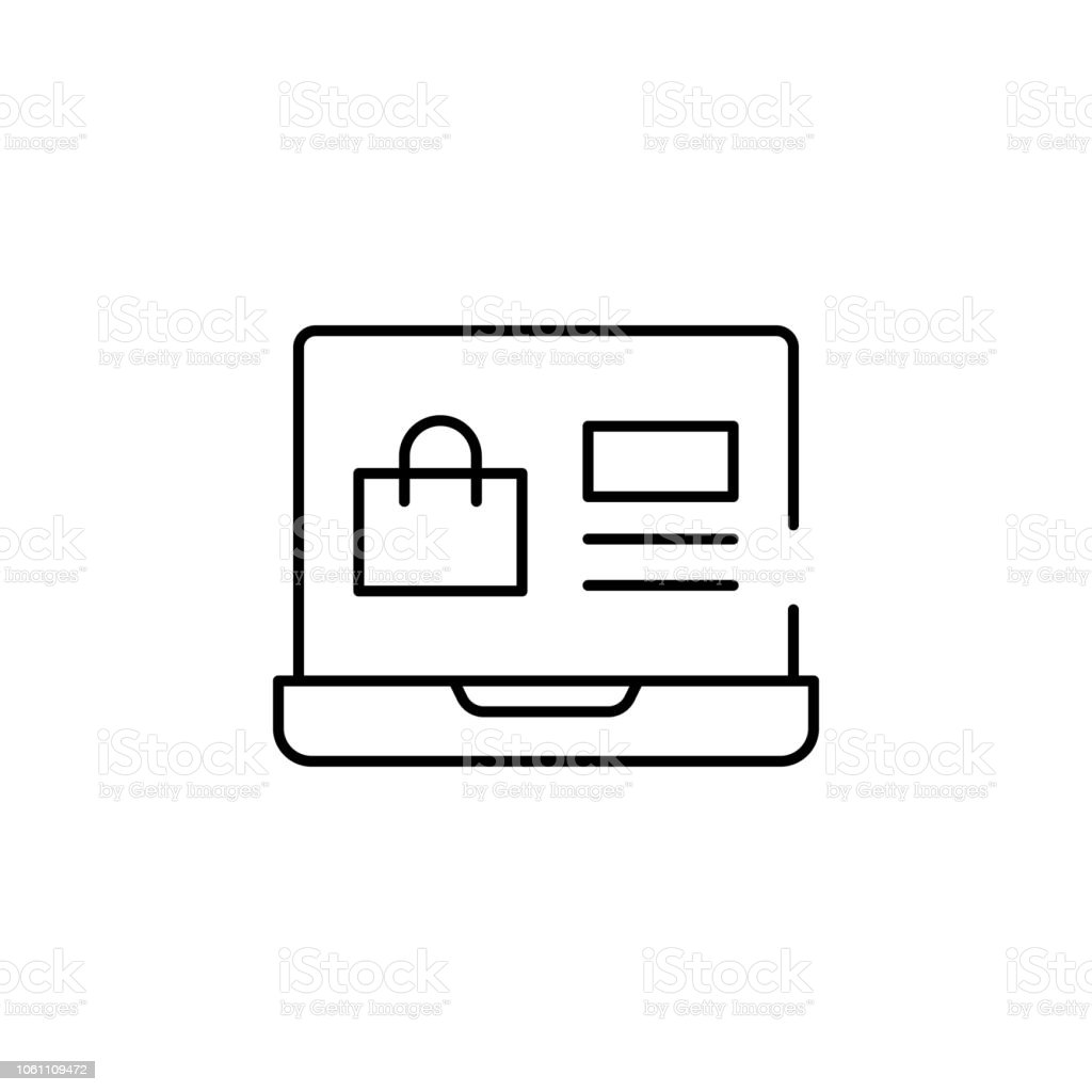 Online Shopping Icon Element Of Cyber Monday Icon For Mobile
