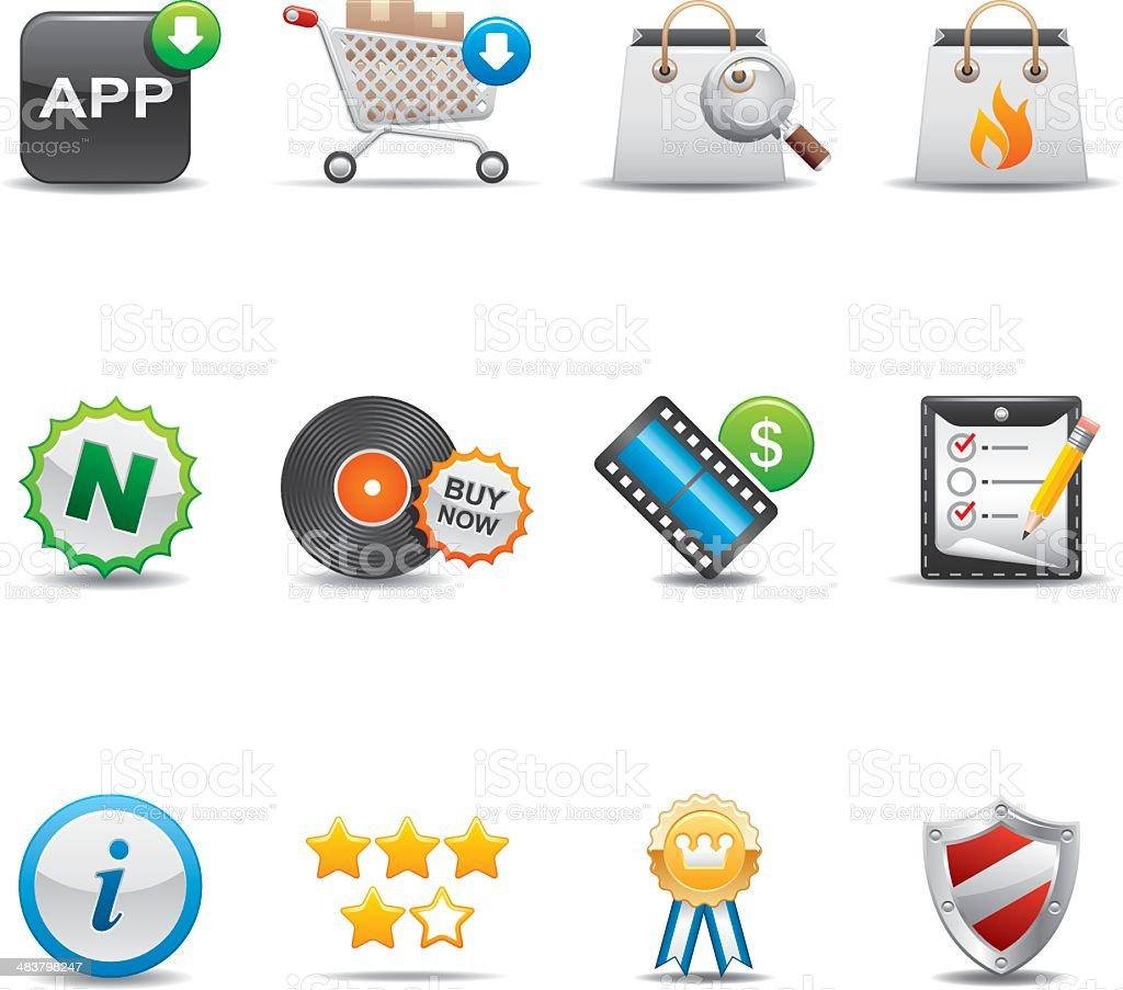 Online Shopping Icon Set | Elegant Series royalty-free stock vector art