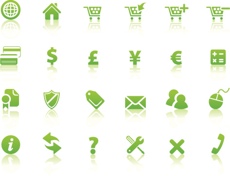 Online Shopping Icons (Reflection2)