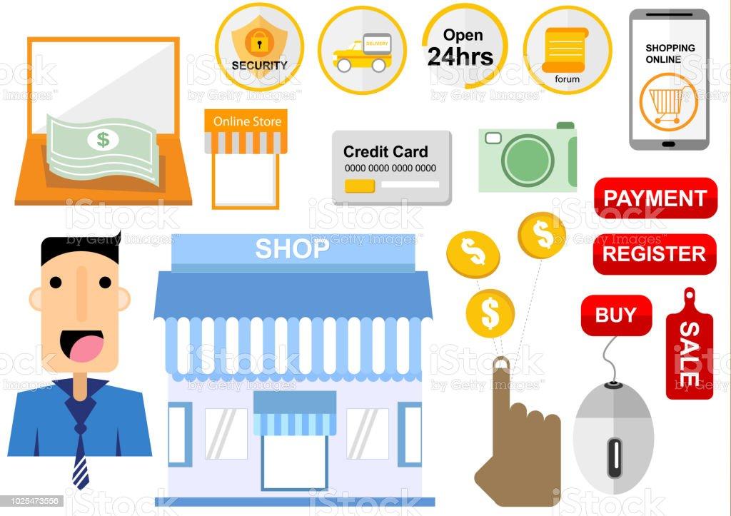 28e545aeef compra online tienda E-commerce ilustración de compra online tienda  ecommerce y más vectores libres