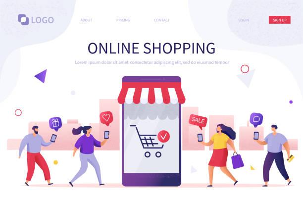 online shopping - online shopping stock illustrations