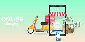 online shopping. eps 10 vector file