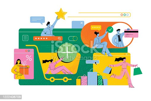 istock Online shopping 1222408709