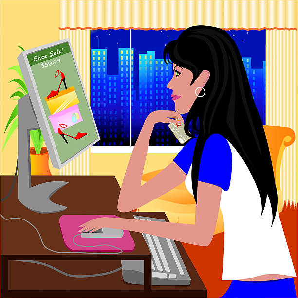 online-shopping - mauspad stock-grafiken, -clipart, -cartoons und -symbole