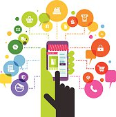 Vector illustration - Online Shopping