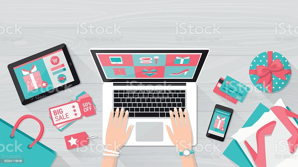 Royalty Free Online Shopping Clip Art, Vector Images ...
