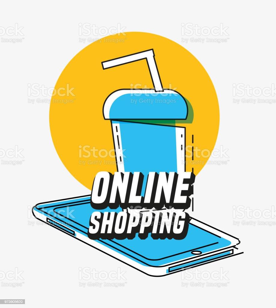 8b9b5659157 Online Shopping With Smartphone Pop Art Style Stock Vector Art ...