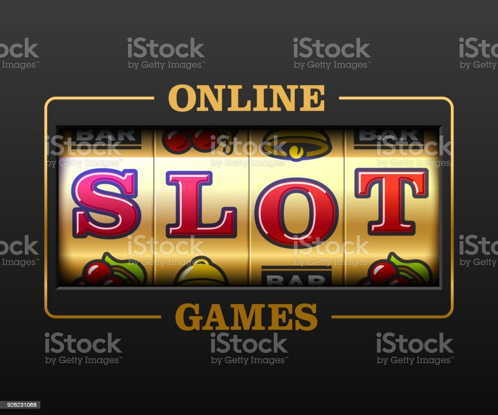 Bannière de casino en ligne machines à sous - Illustration vectorielle