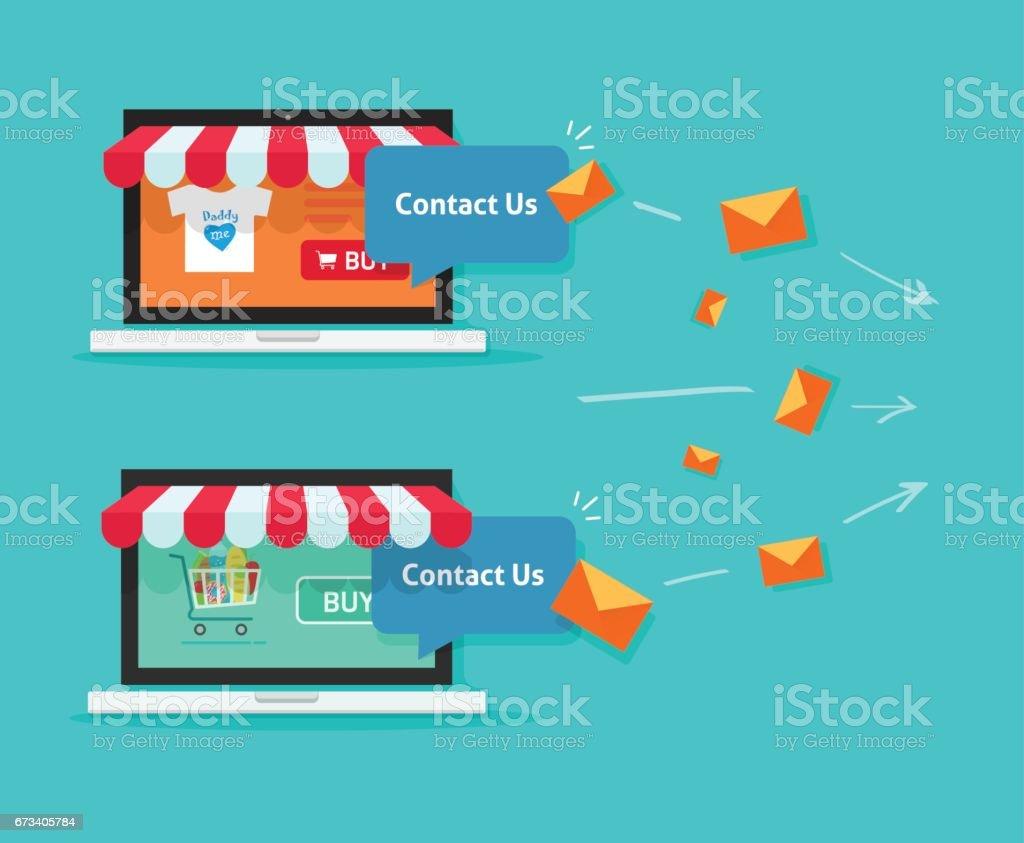 24196e756 Vetor de Comunicação Online Da Loja E Cliente Lojas De Internet No ...