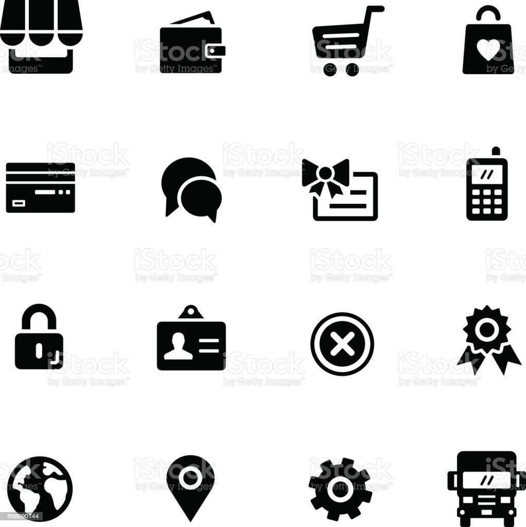 OnLine Store // Black Series vector art illustration