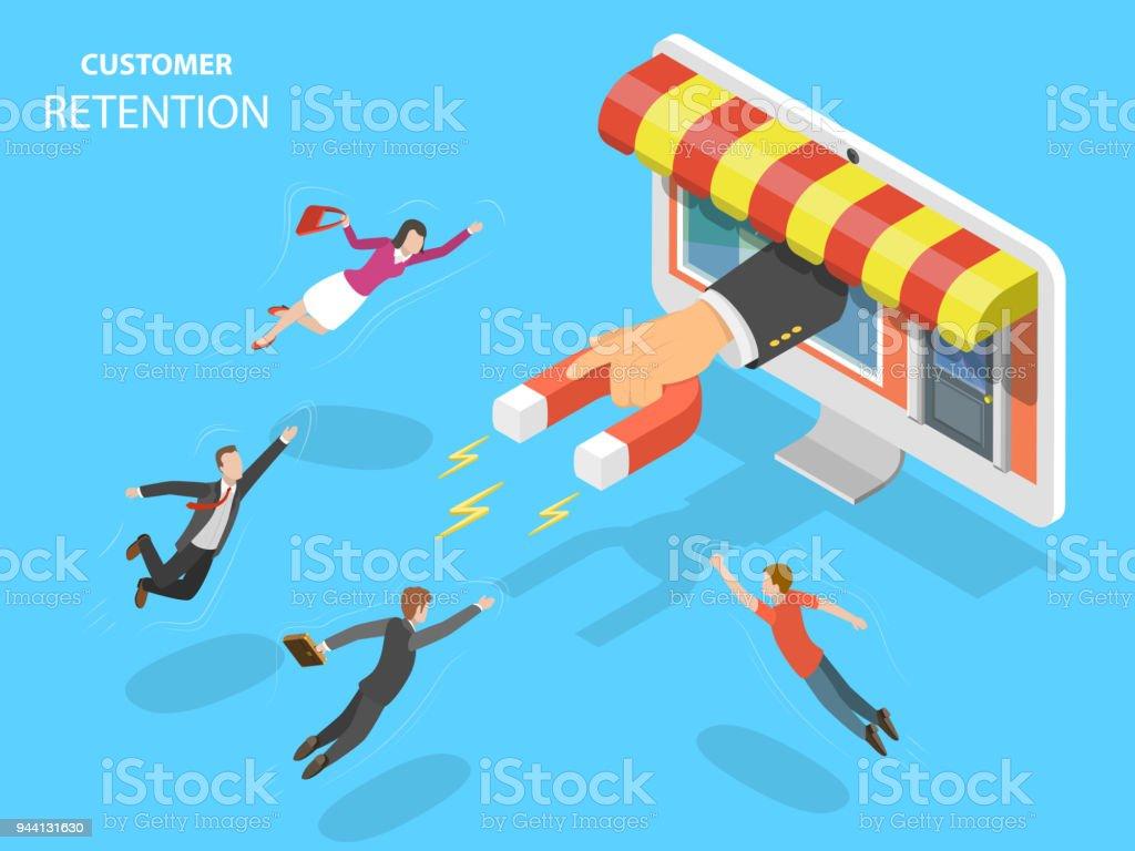 Online store customer retention vector illustration. vector art illustration