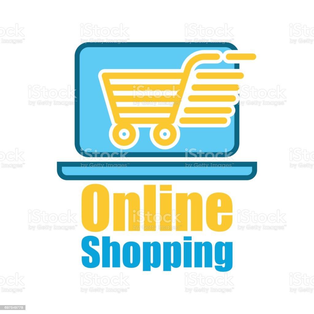 ed26a4a55a tienda online   online compras icono para tu negocio en línea. Ilustración  de vector ilustración
